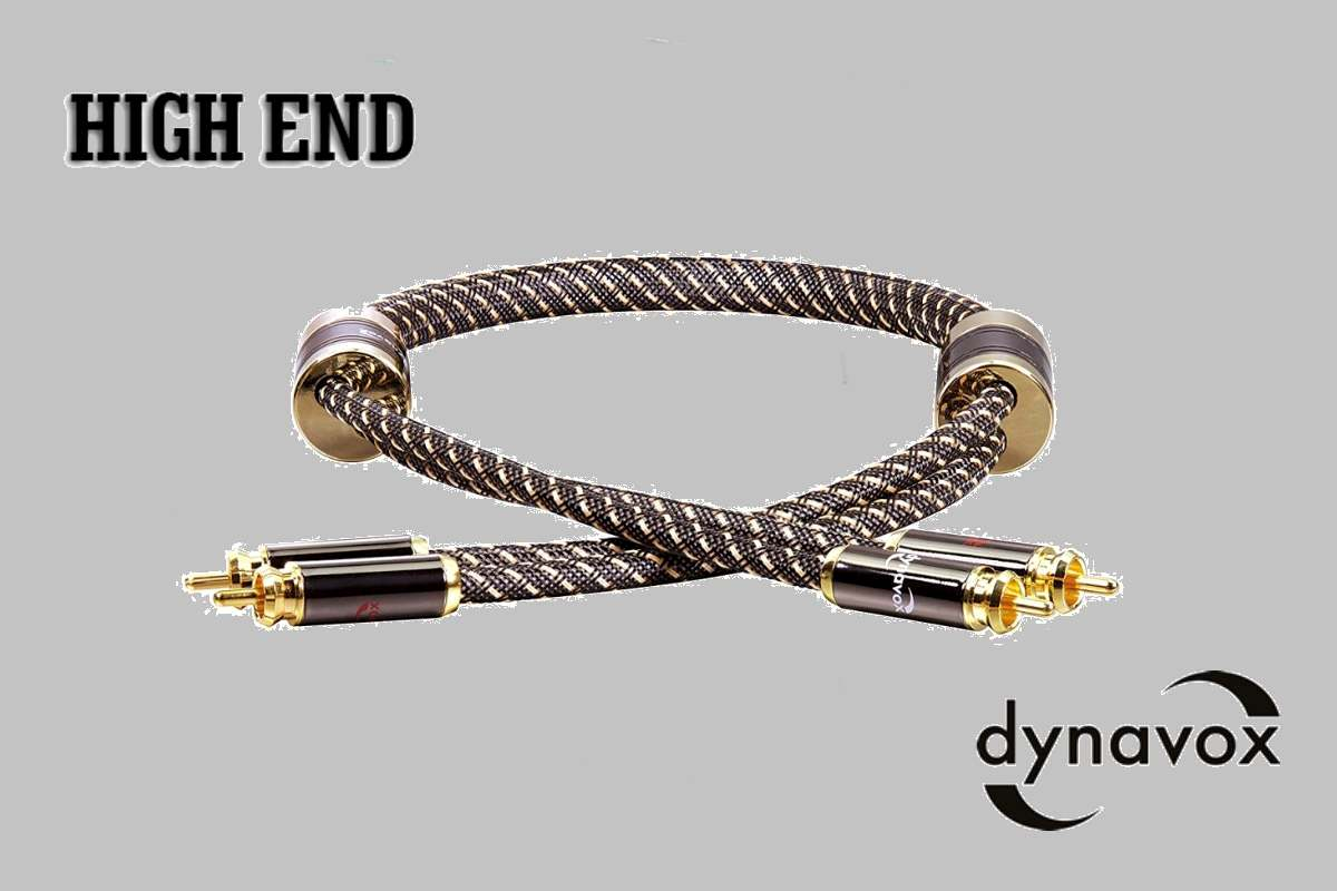 "RCA kábel Dynavox ""Black Line""-0,6m"