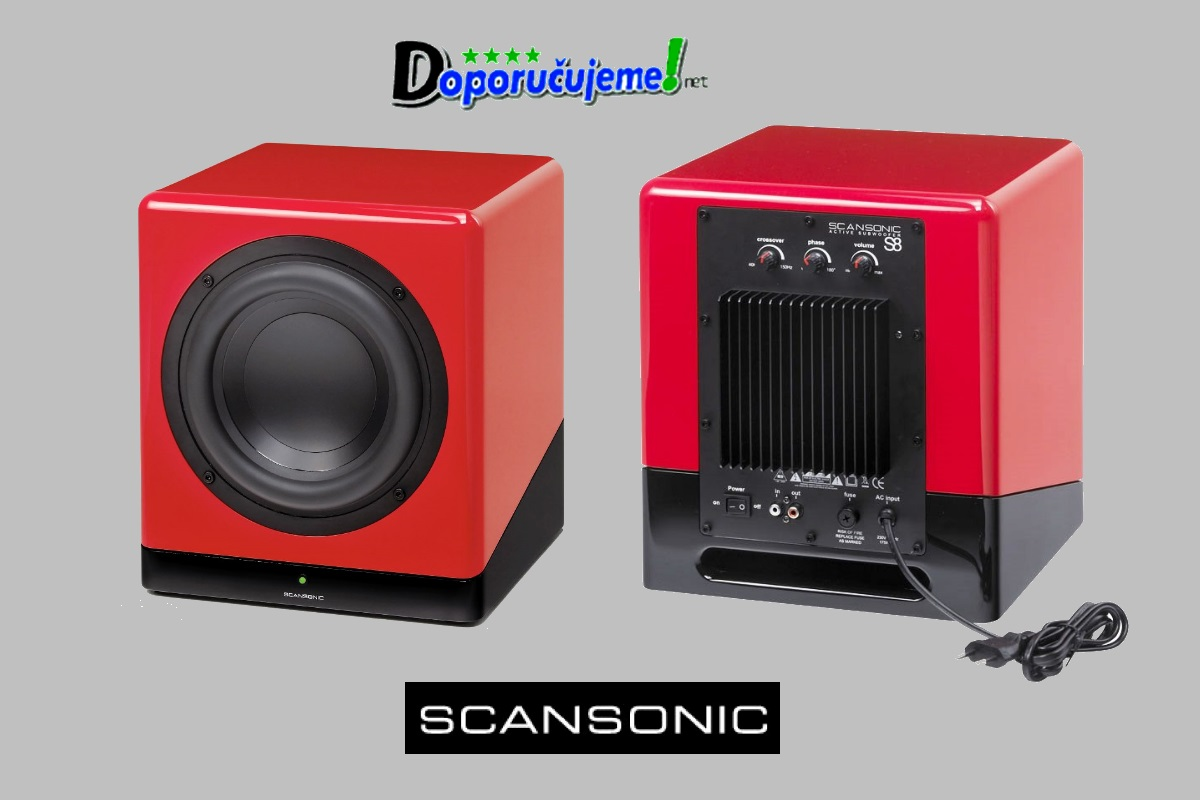 Subwoofer Scansonic D8 Rot